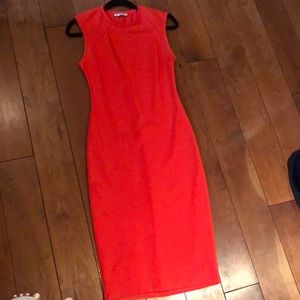 Zara fitted coral dress